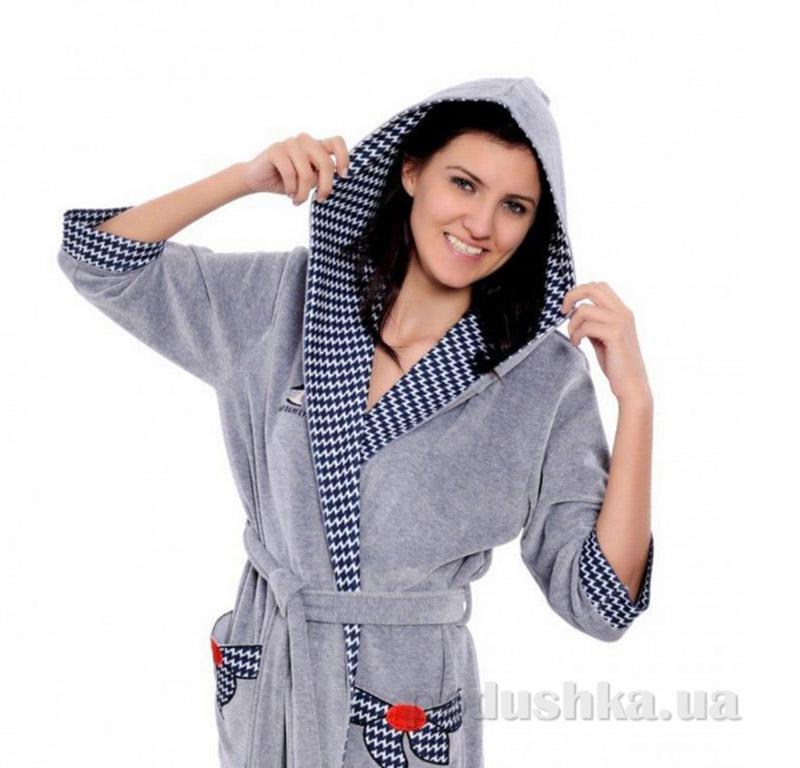 Женский халат на поясе Arya 13035 S/M петроль ARYA