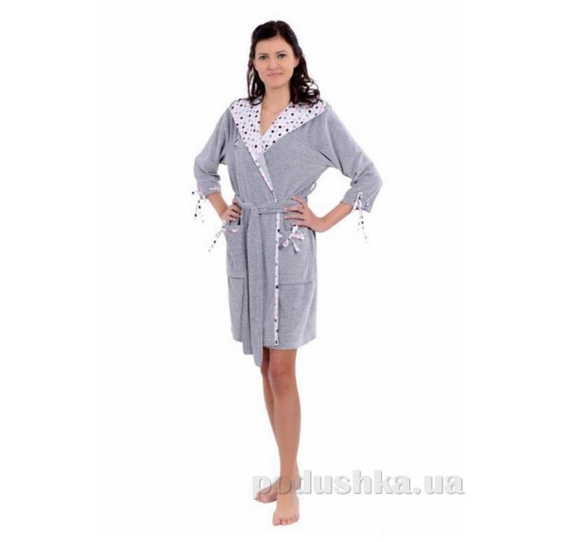 Женский халат на поясе Arya 13045 серый