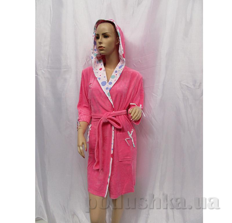 Женский халат на поясе Arya 13045 розовый