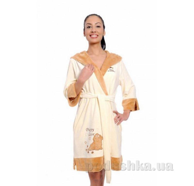 Женский халат на поясе Arya 13055 L кремовый ARYA