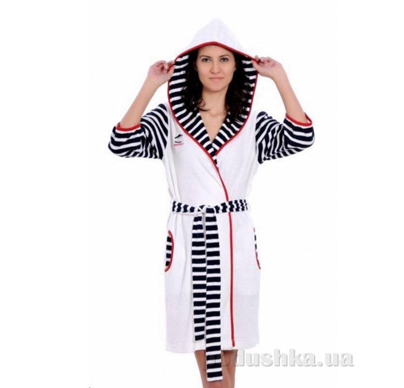 Женский халат на поясе Arya 13065 белый