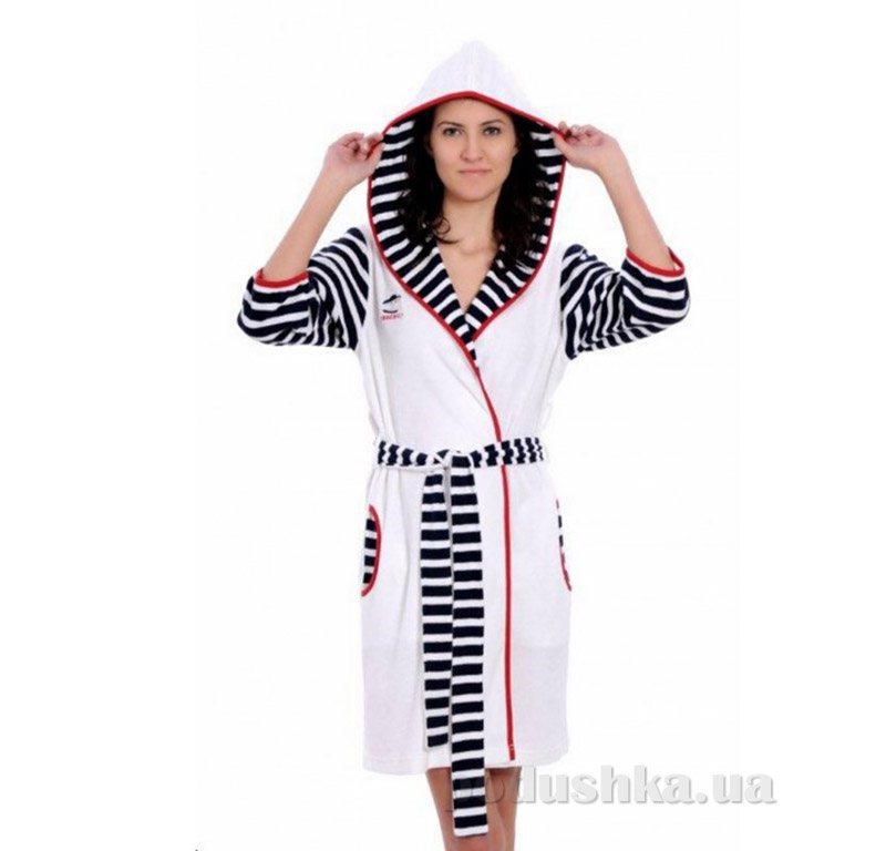 Женский халат на поясе Arya 13065 белый XXL  ARYA