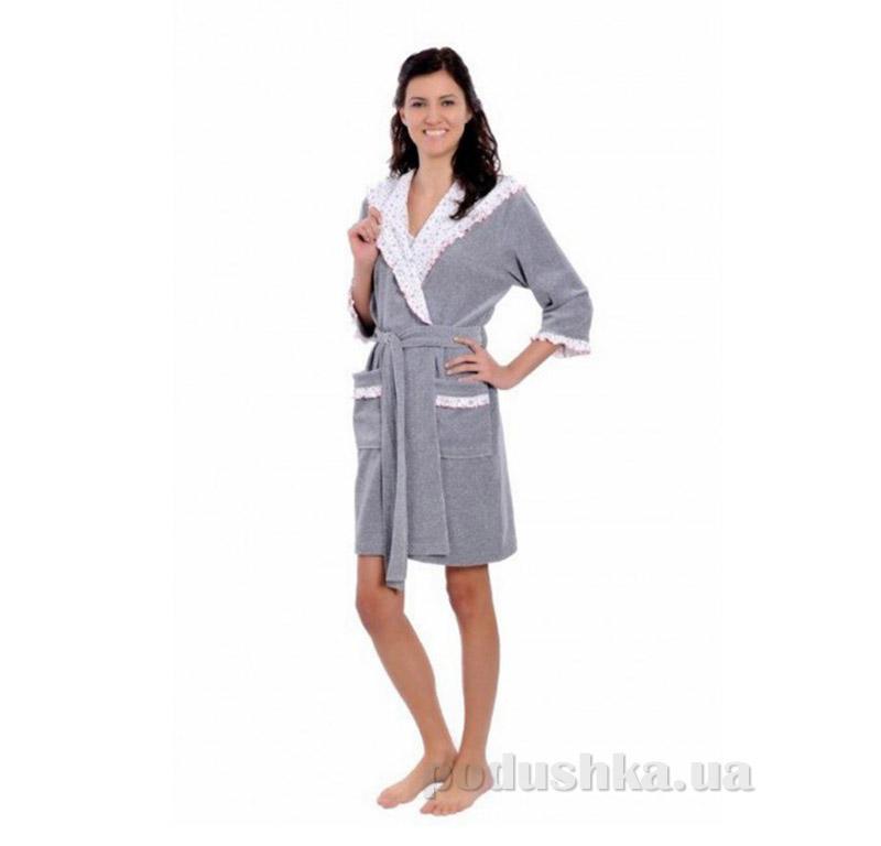 Женский халат на поясе Arya 13090 серый
