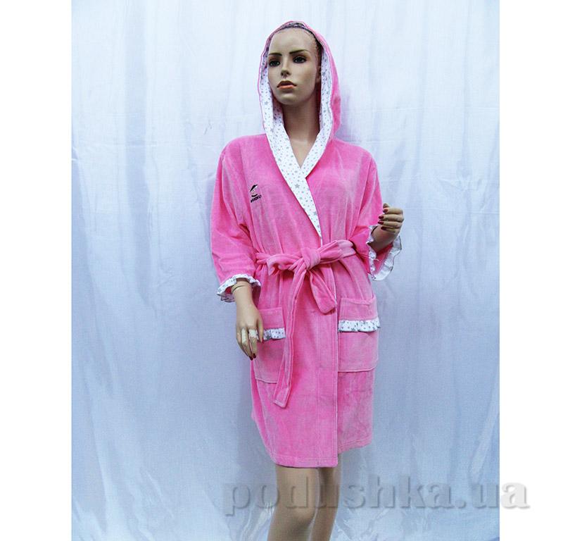 Женский халат на поясе Arya 13090 розовый