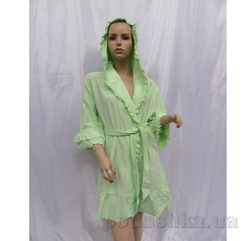 Женский халат на поясе Arya 13115 светло-зеленый