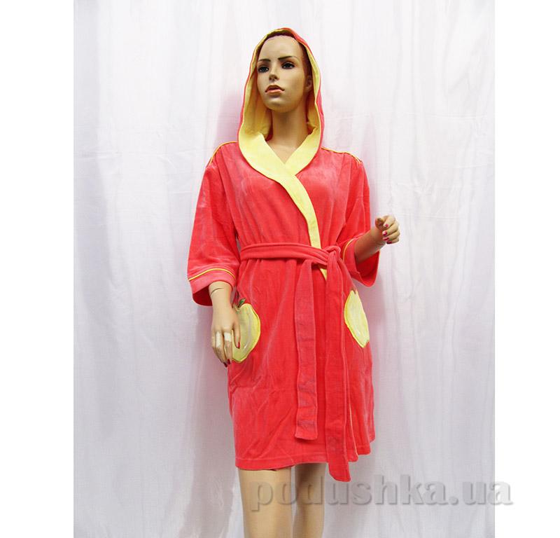 Женский халат с поясом Arya 13005 коралловый