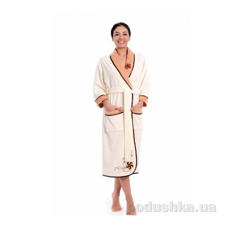 Женский халат Шалька Arya 13080 XXXL коричневый ARYA