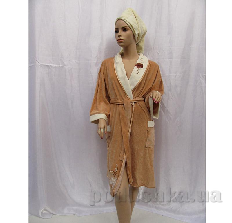 Женский халат Шалька Arya 13080 коричневый