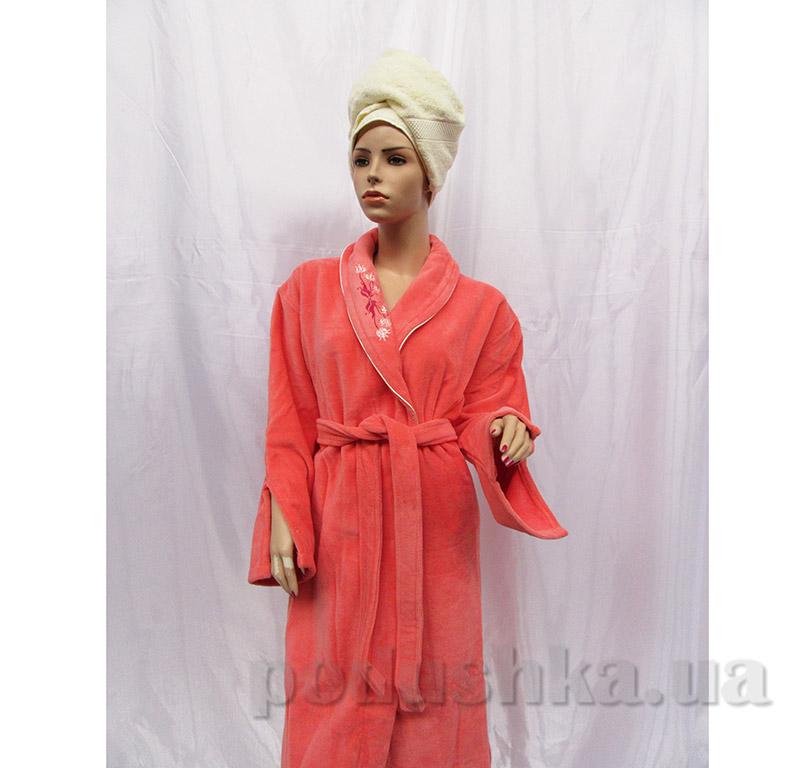 Женский халат Шалька Arya 14125 S коралловый
