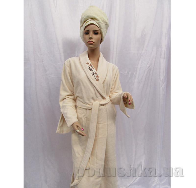 Женский халат Шалька Arya 14125 S кремовый