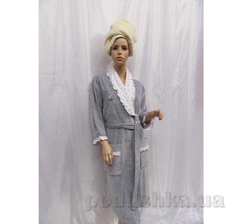 Женский халат Шальке Arya 13095 серый