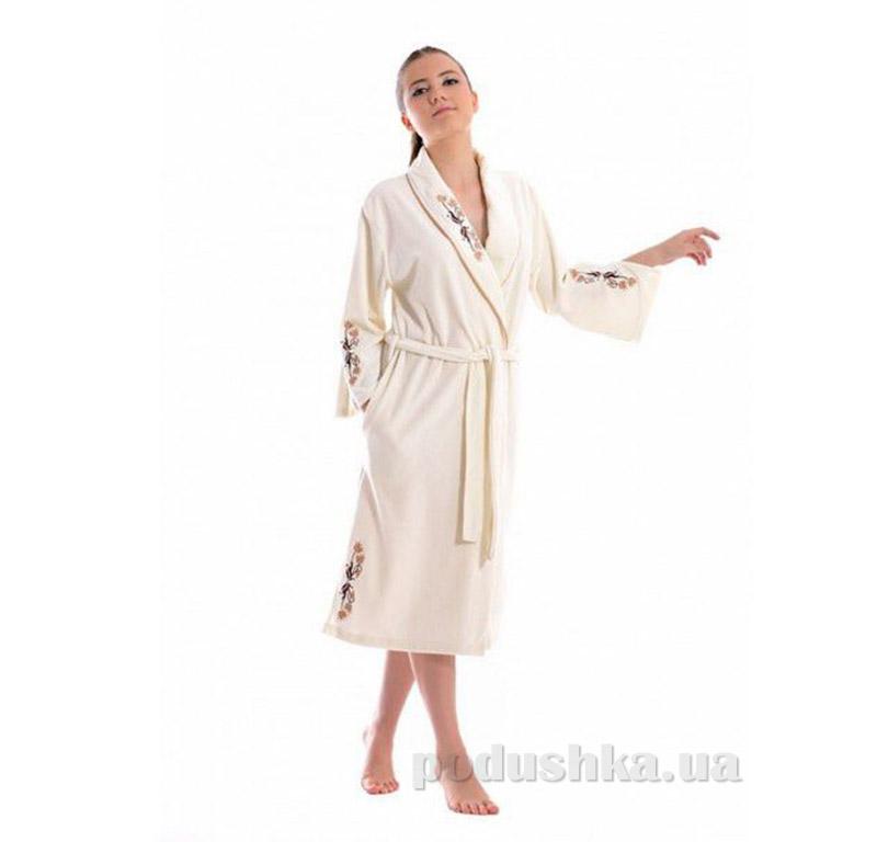 Женский халат Шальке с капюшоном Baglamali Arya 14070