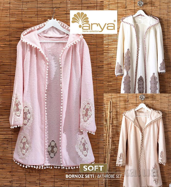 Женский халат TTR1000704 Soft S/M кремовый ARYA
