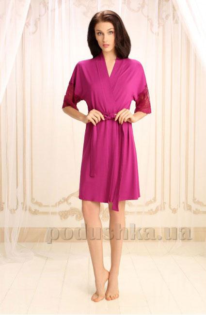 Женский халат Violet delux Х-М-14 марсала M  Violet delux