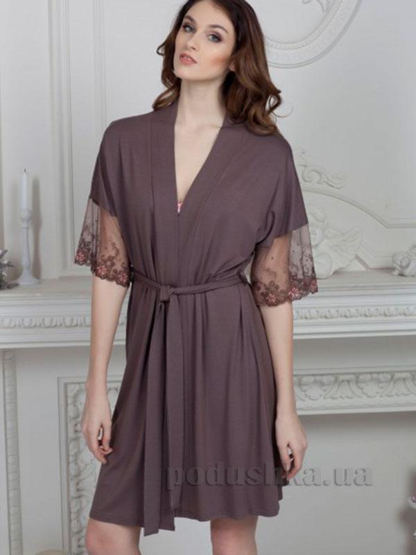 Женский халат Violet delux Х-М-14 молочный шоколад