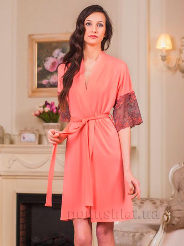 Женский халат Violet delux Х-М-14 персиковый