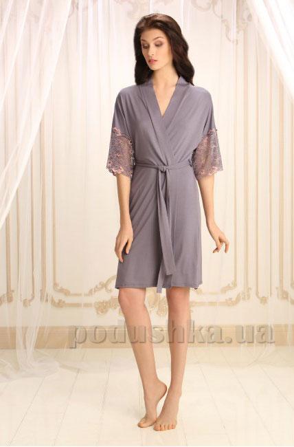 Женский халат Violet delux Х-М-14 серый