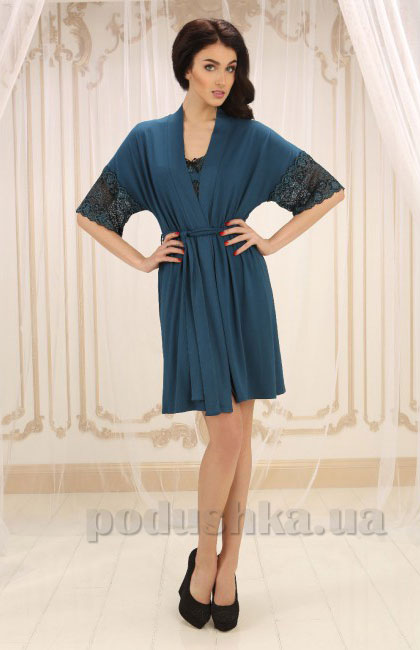 Женский халат Violet delux Х-М-14 синий топаз