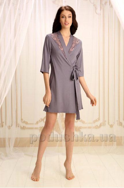 Женский халат Violet delux Х-М-16 серый
