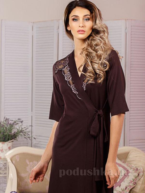 Женский халат Violet delux Х-М-19 шоколад