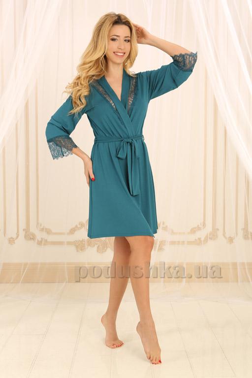Женский халат Violet delux Х-М-29 изумрудный