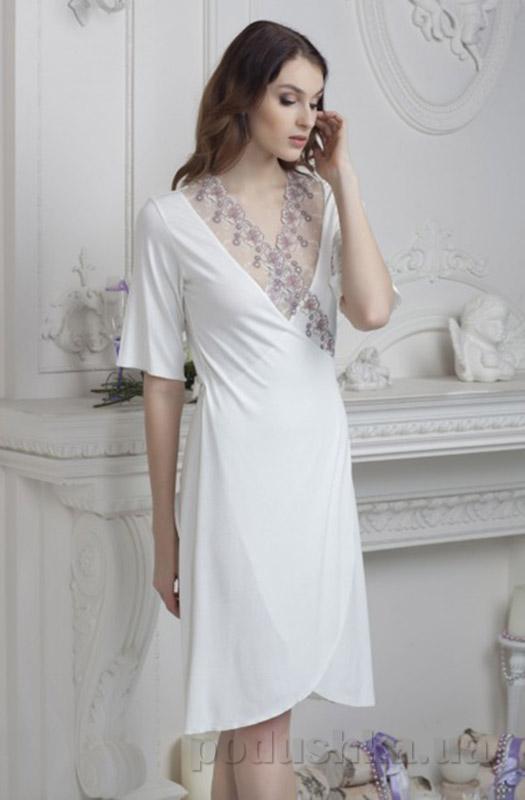 Женский халат Violet delux Х-М-2 айвори