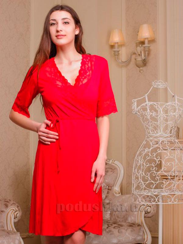 Женский халат Violet delux Х-М-2 красный