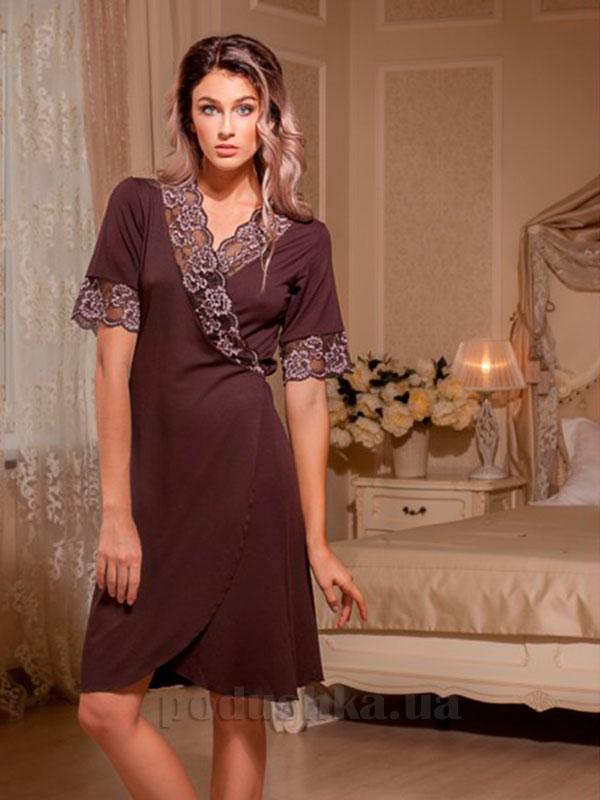 Женский халат Violet delux Х-М-2 шоколад