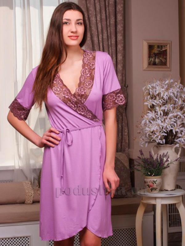 Женский халат Violet delux Х-М-2 сиреневый