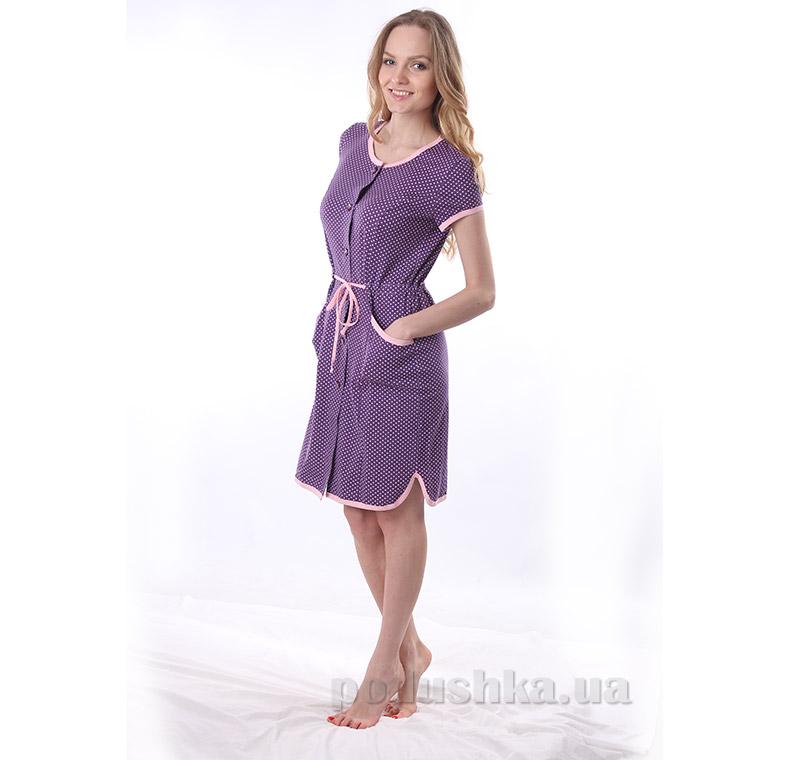 Женский халат VVL-TEX 309 фиолетовый