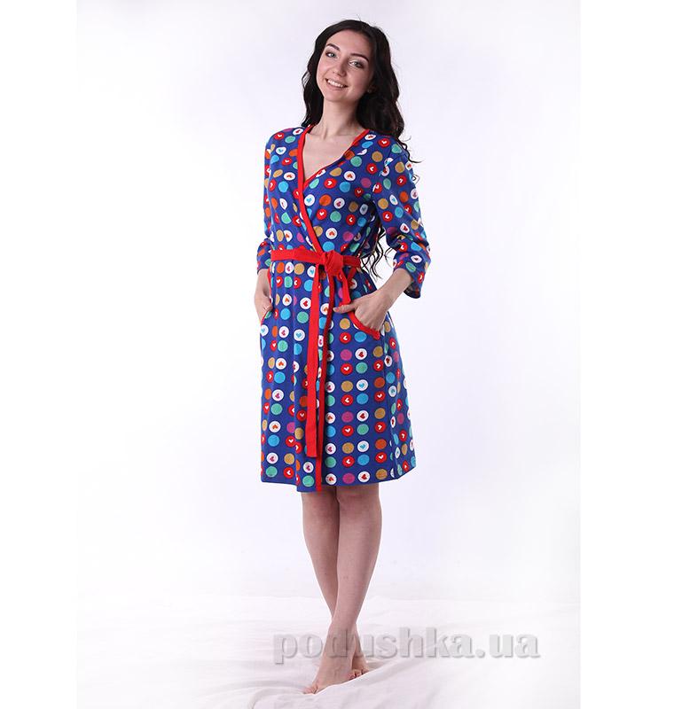 Женский халат VVL-TEX 311 синий
