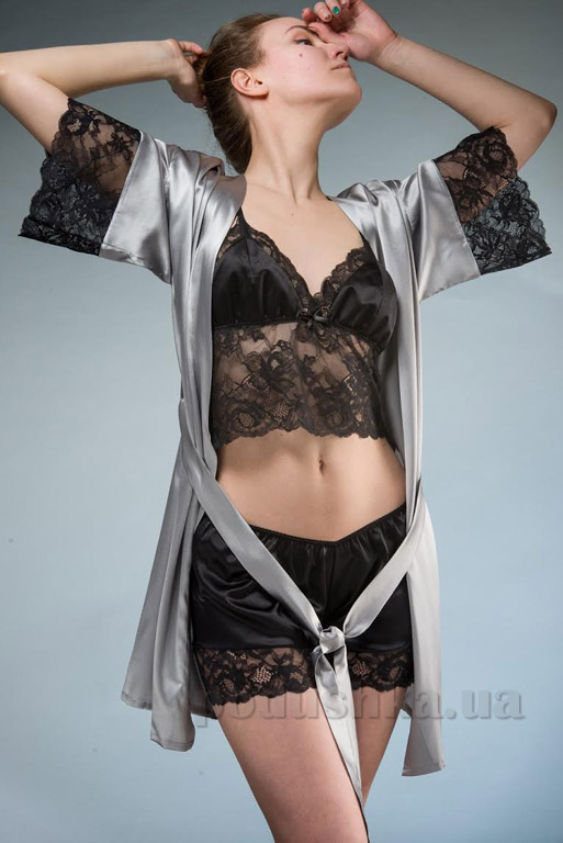 Женский шелковый комплект Имате 8 майка и шорты