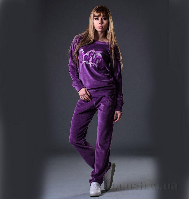 Женский велюровый костюм Street Style 018-512