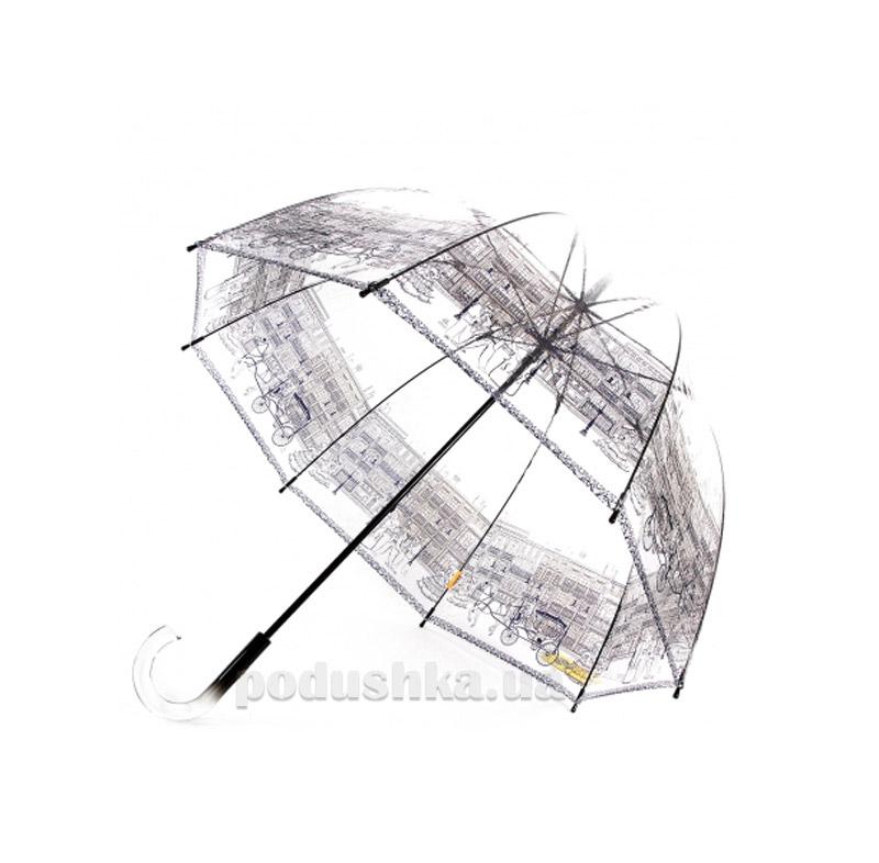 Женский зонт-трость прозрачный Zest 51570 Город