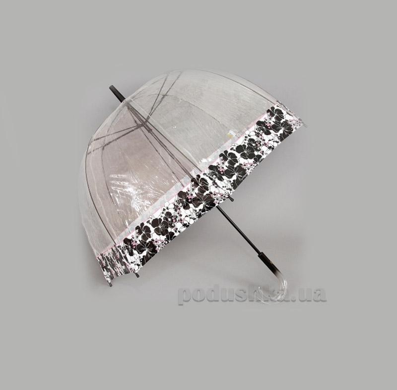 Женский зонт-трость прозрачный Zest 51570 Полевые цветы