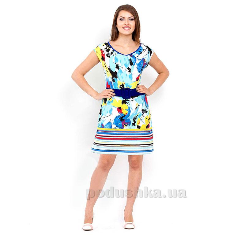 Женское платье МТФ 02605 цветы