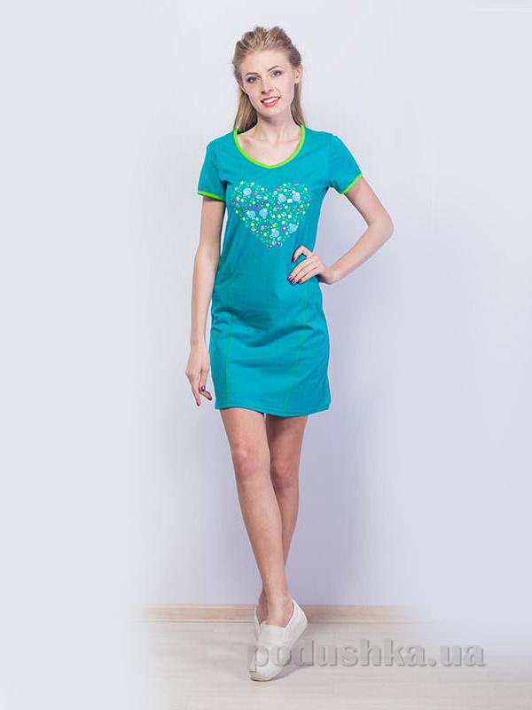 Женское платье МТФ 1491 П бирюзовое 48  Мелитопольская ТФ