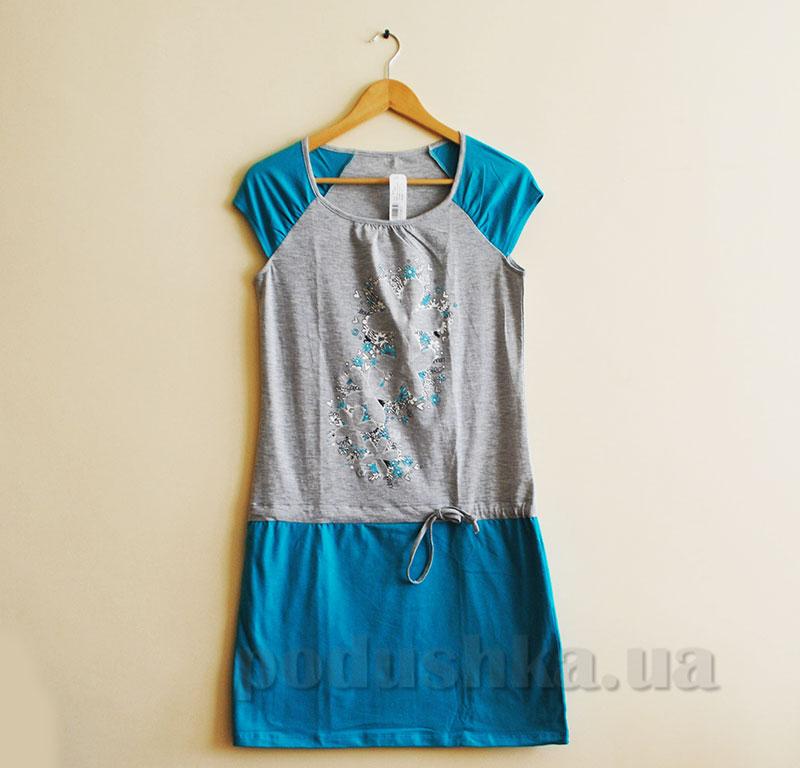 Женское платье МТФ 5563 П бирюзовое