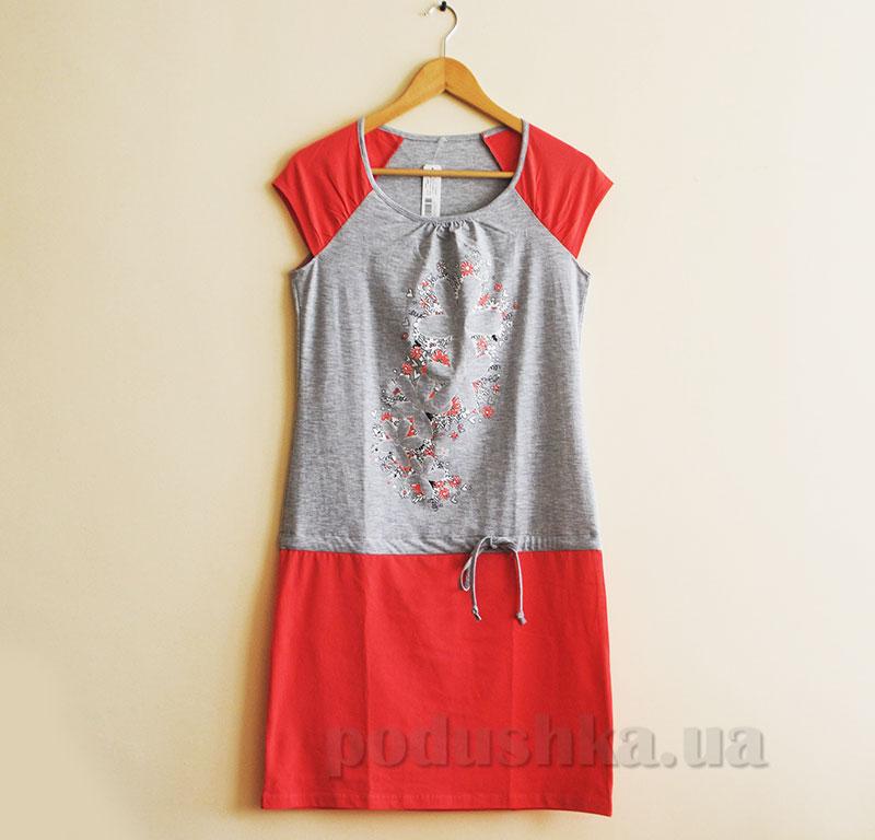 Женское платье МТФ 5563 П коралловое