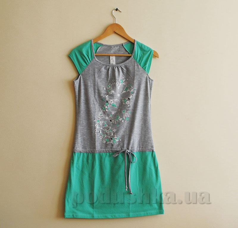 Женское платье МТФ 5563 П ментоловое