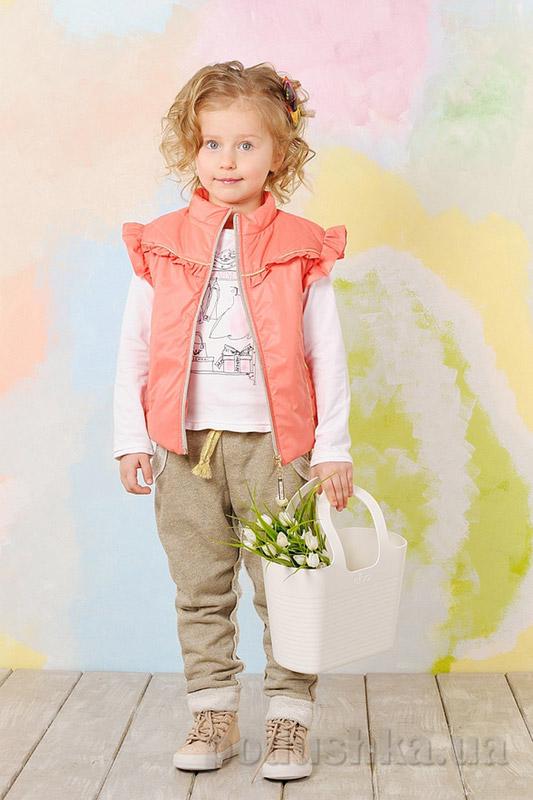 Жилет для девочки демисезонный Модный карапуз 03-00475