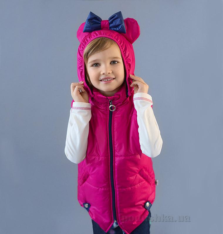 Жилет для девочки Микки Модный карапуз 03-00633 малиновый