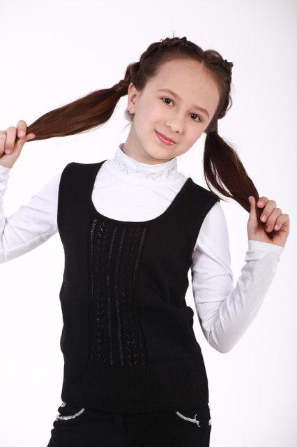 Жилет для девочки ОТМ Дизайн 2960 черный купить в Киеве 75b223114d91d