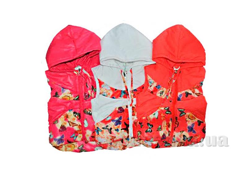 Жилетка утепленная с капюшоном Одягайко 7102