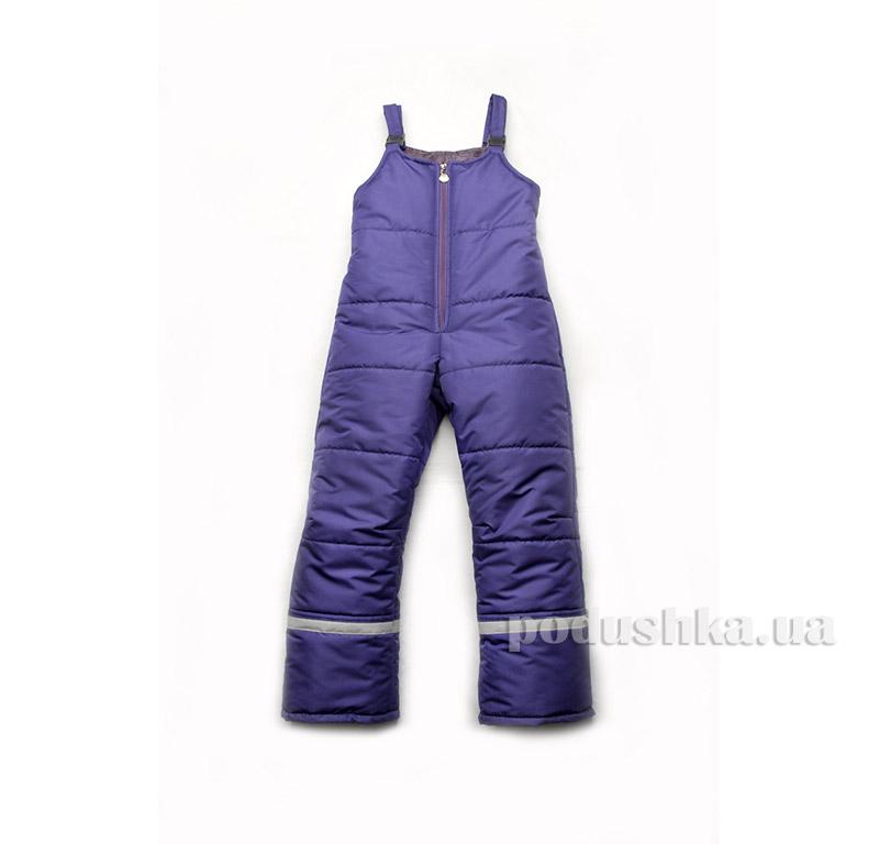 Зимние штаны детский полукомбинезон Модный карапуз 03-00590 фиолетовый