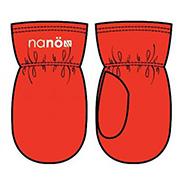 Зимние варежки для девочки Nano F14 MIT 501 Orange