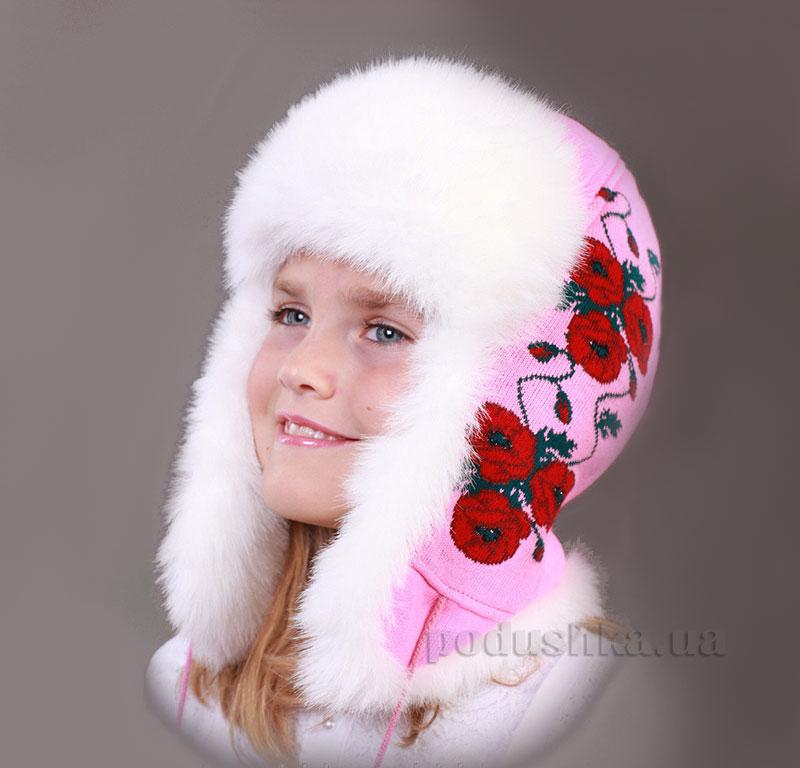 Зимняя шапка Бабасик Мак малиновая