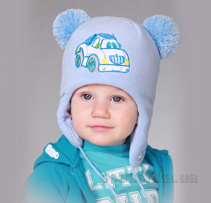 Зимняя шапка Бабасик Масяня голубая