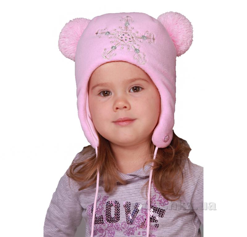 Зимняя шапка Бабасик Масяня розовая