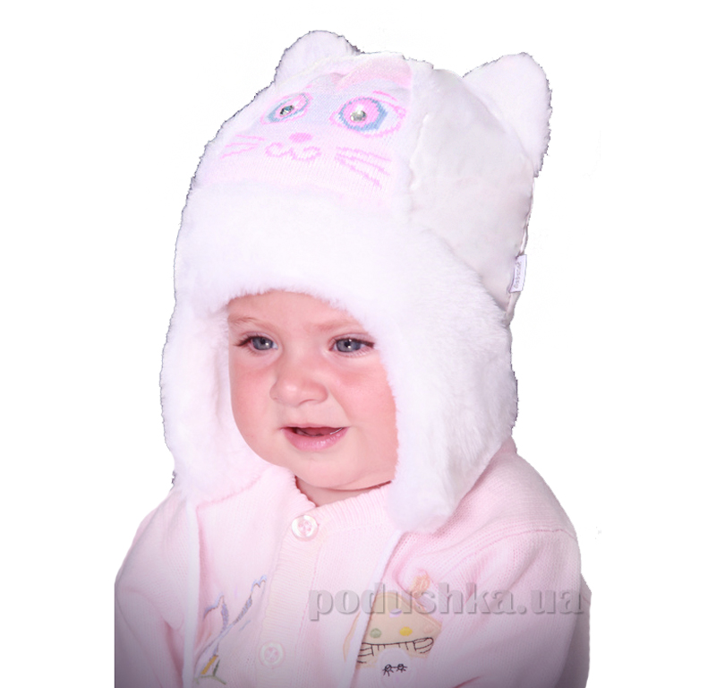 Зимняя шапка Бабасик Мурзик лиловый
